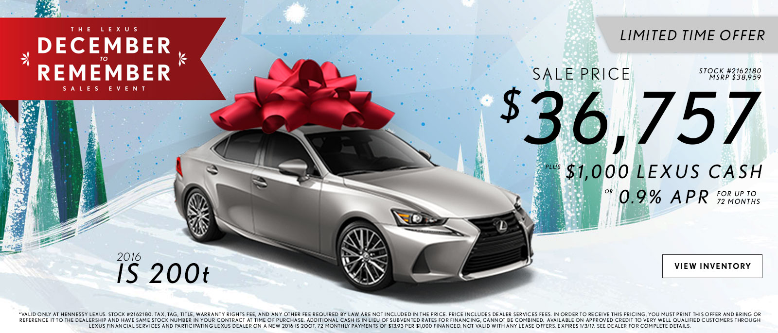 Lexus December to Remember IS Offers