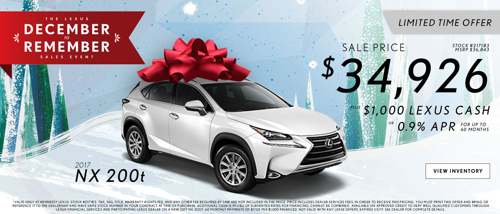 Lexus December to Remember NX Offers