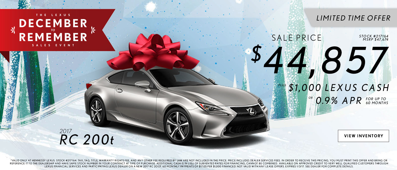 Lexus December to Remember RC Offers