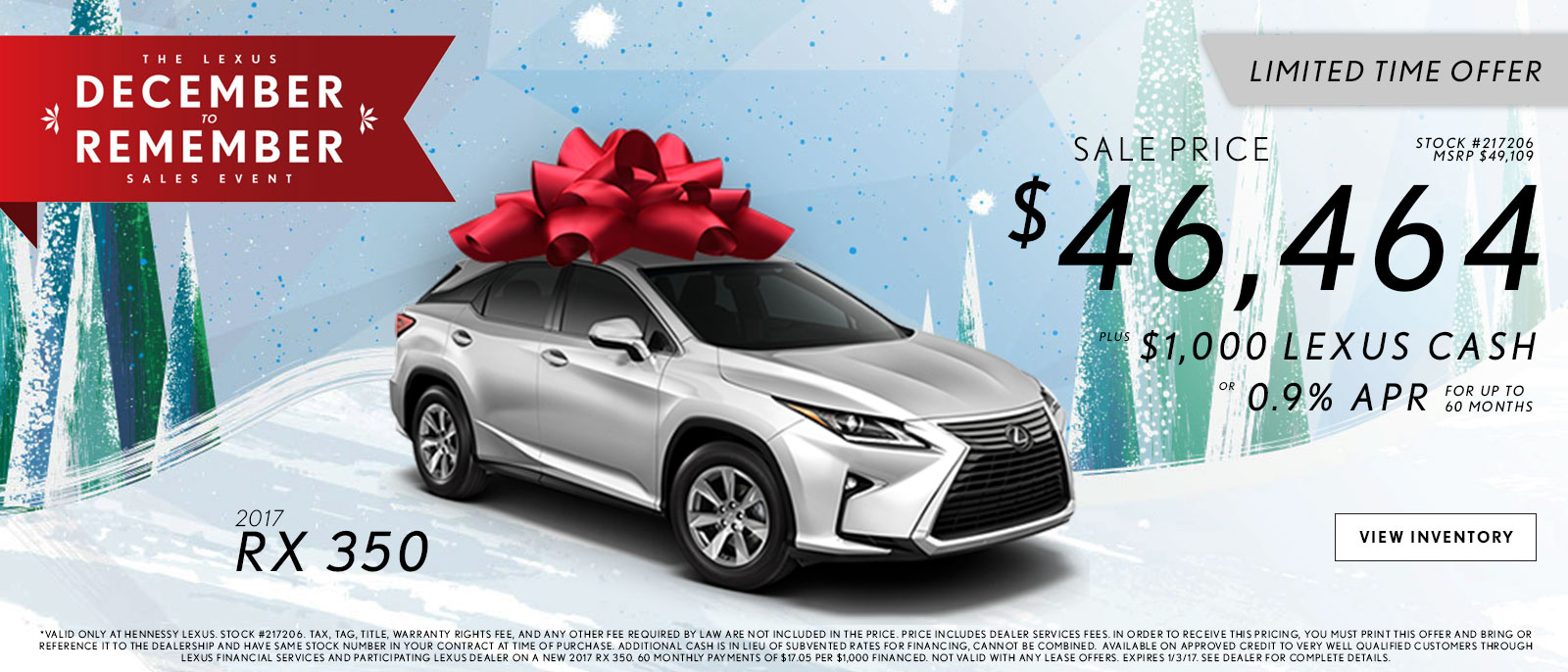 Lexus December to Remember RX Offers